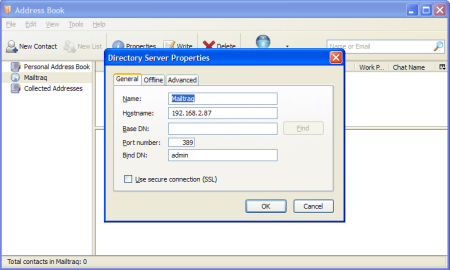 KB05081902 How to set up LDAP in the Mailtraq email server