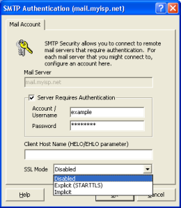 Outbound SMTP Authentication in Mailtraq